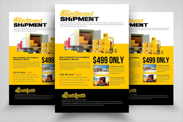 Load & Carry Freight Flyer Template