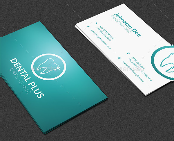 3 Clean Design Dentist Business Cards
