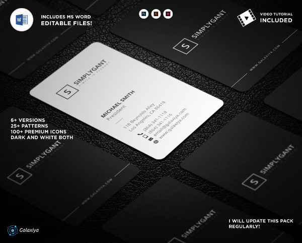 Minimal Vertical Business Cards