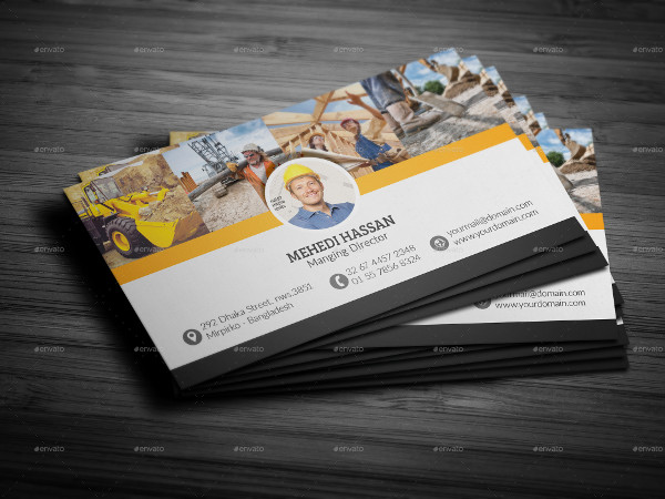 Perfect Business Card for Construction Company