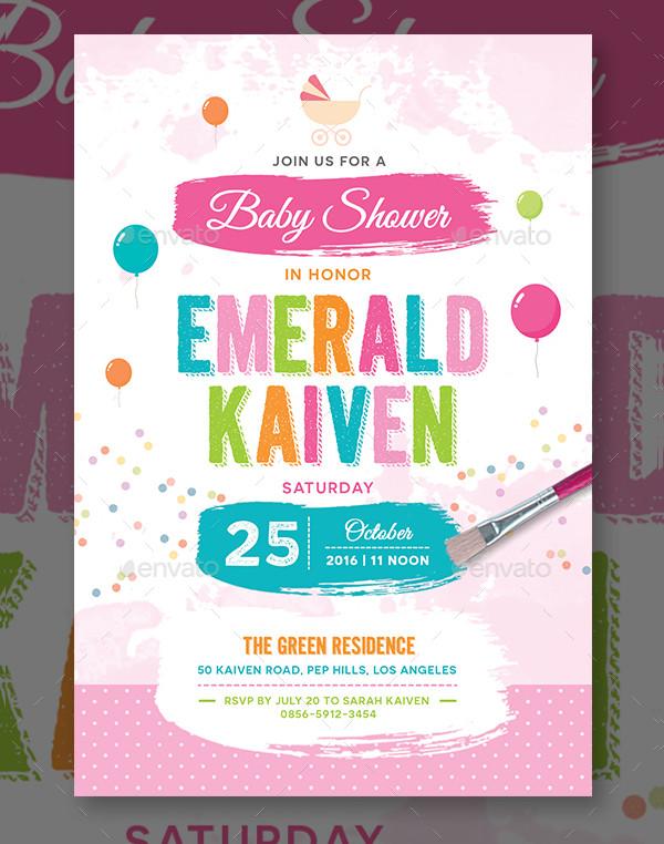 Best Baby Shower Invitation Template