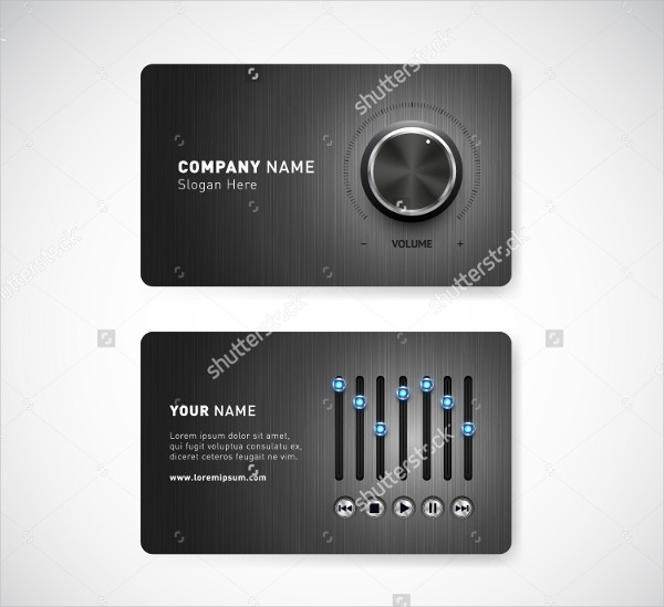 Professional Music Company Business Cards