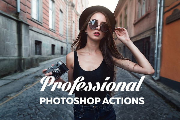 Professional Vintage Photoshop Action Pack