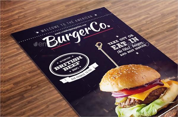 Rustic American Burger Menu Template