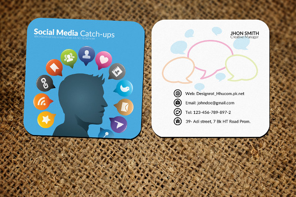 Social Media Small Business Cards PSD