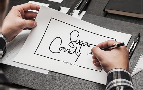Sugar Candy Signature Type Font