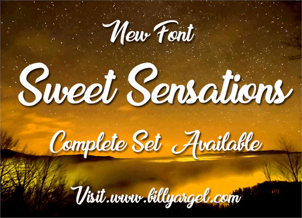 Sweet Sensations Personal Use font