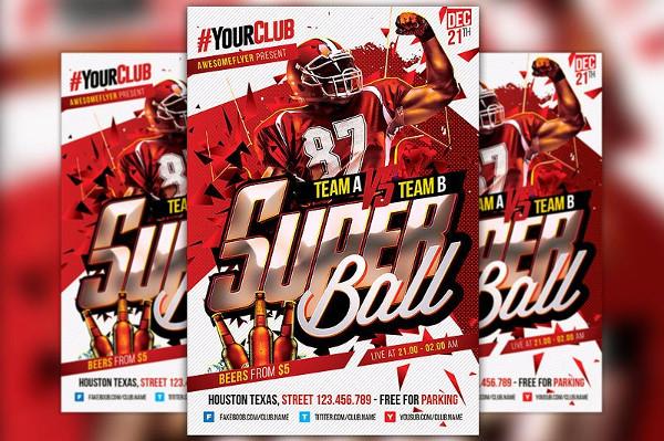 Super Bowl Flyer PSD