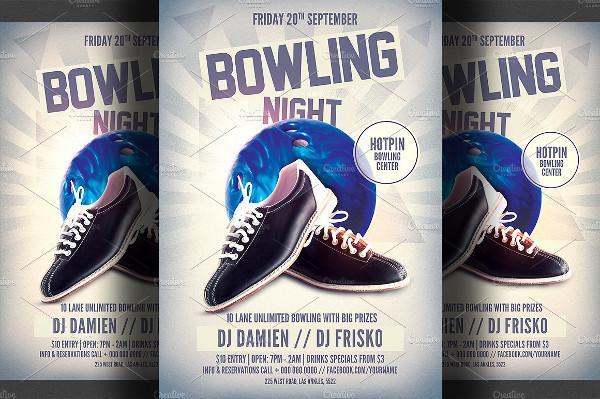 Unique Bowling Alley Flyer