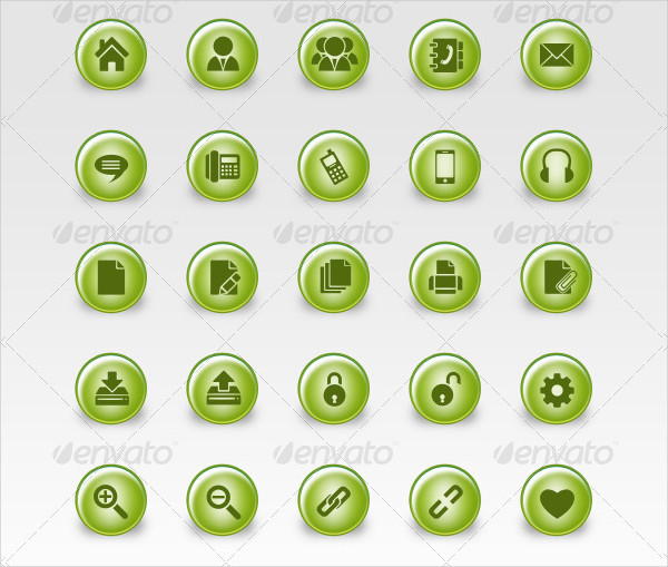 40 Web icon Set in ECO Style