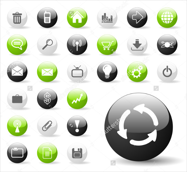 Glossy Icon Set for Web Applications