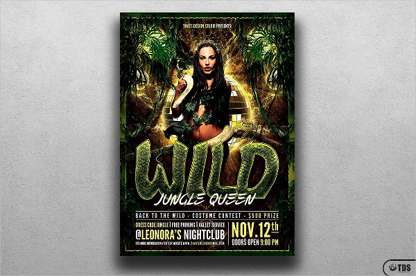 Exotic Wild Party Flyer Template