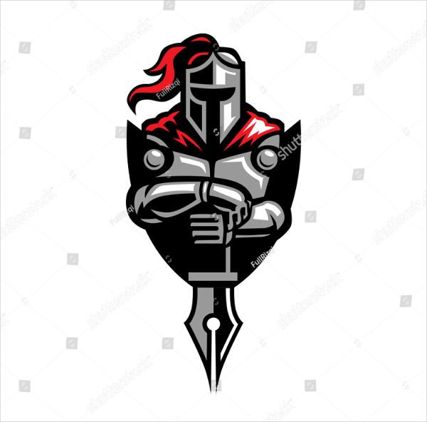 Abstract Knight Nib Logo