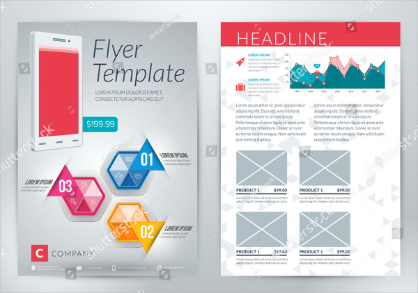 Abstract Mobile Apps Flyer Template