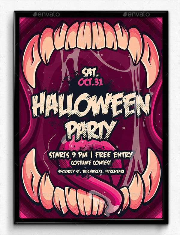Best Halloween Party Poster