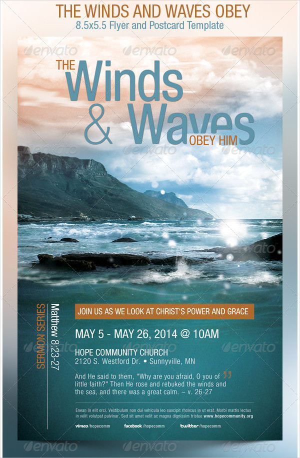 Obey Church Flyer Template