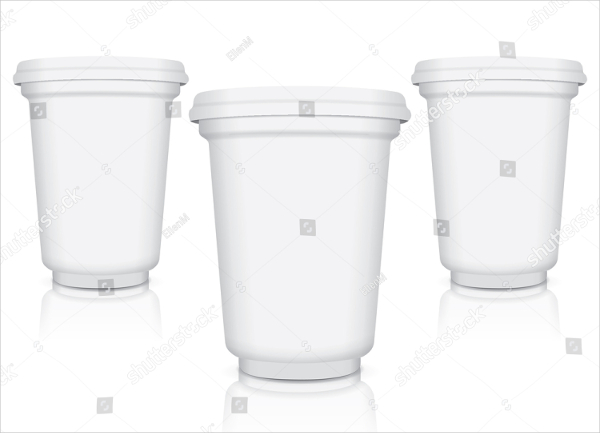 Branding Milk Packaging Cups Mockup
