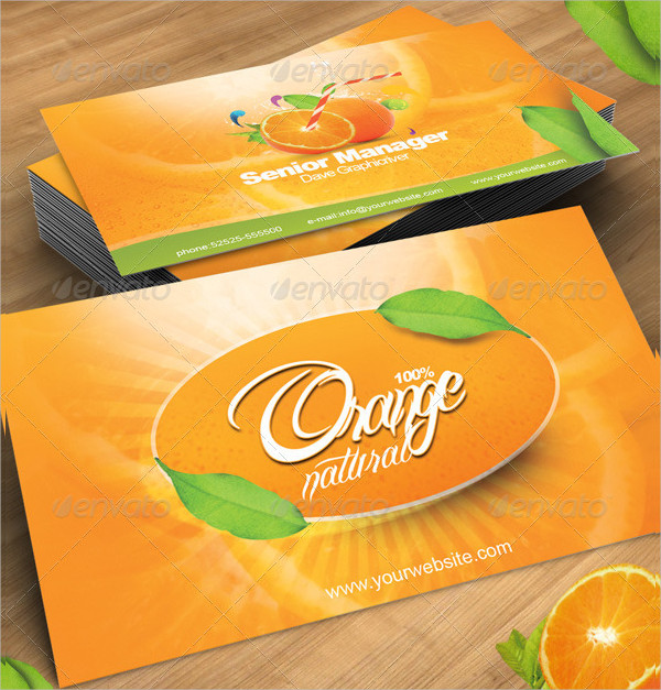 Business Card in Orange Natural