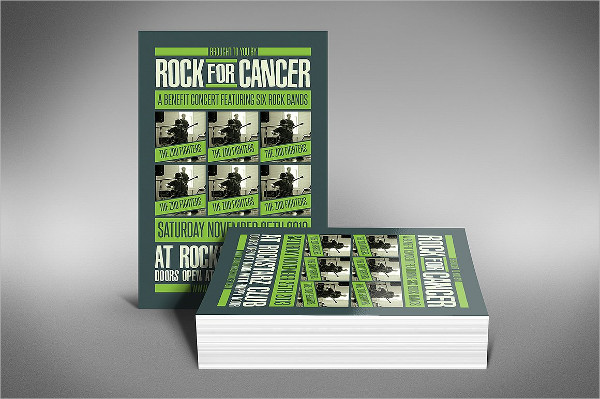 Rock for Cancer Charity Music Event Flyer