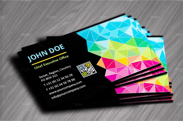 Colorful Geometric Business Cards