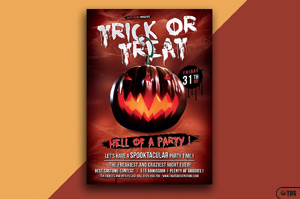 Horror Movie Party Flyer Design