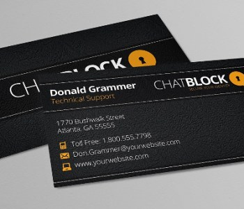Leather Business Card Templates
