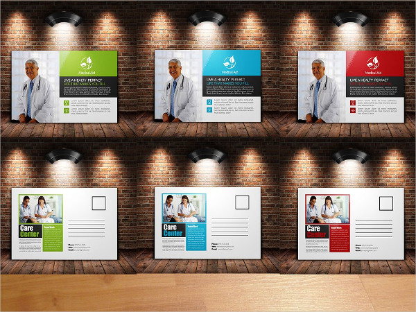 Stylish Doctor & Medical Post Card Templates