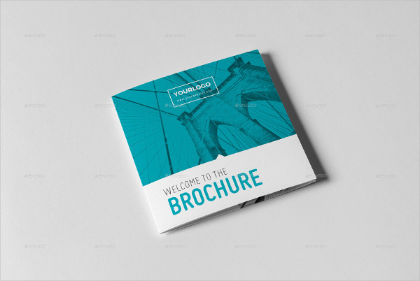 Modern Square Trifold Brochure Template
