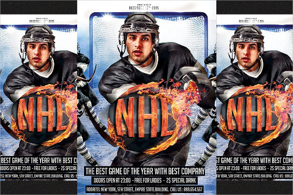 Ice Hockey Stadium Flyer PSD