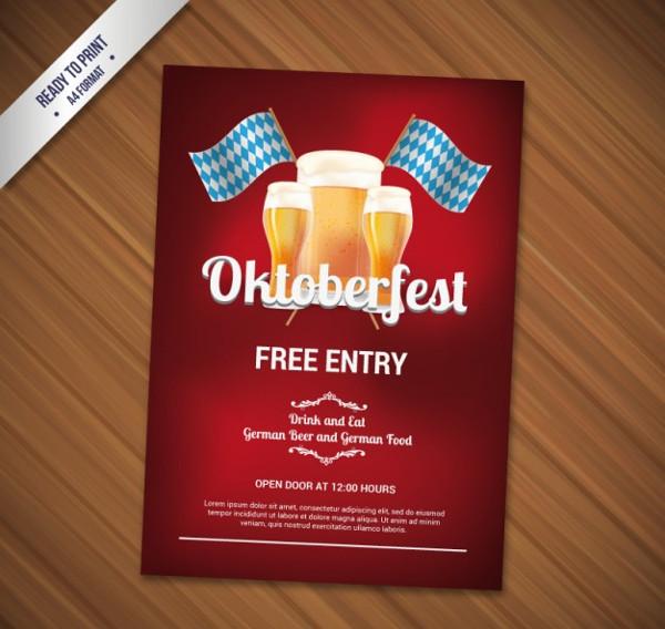 Oktoberfest Flyer Free Vector