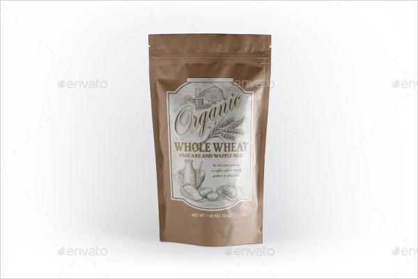 Plastic Pouch Bag Mockup