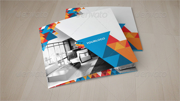 Professional Square Geometric Trifold Brochure