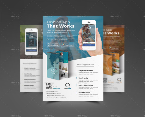 Fully Editable Mobile App Store Flyer Templates