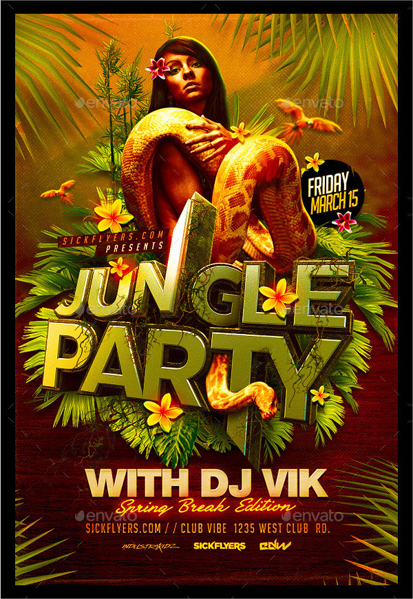 Best Jungle Vacation Flyer Template