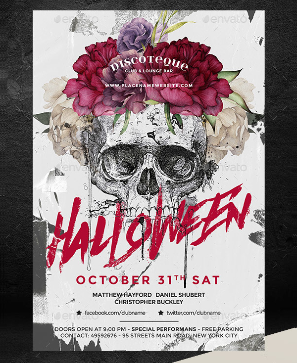 Trendy Halloween Flyer Template