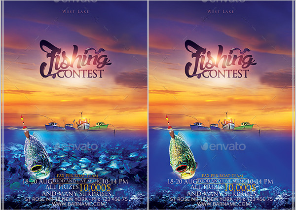 Clean Fishing Contest Flyer