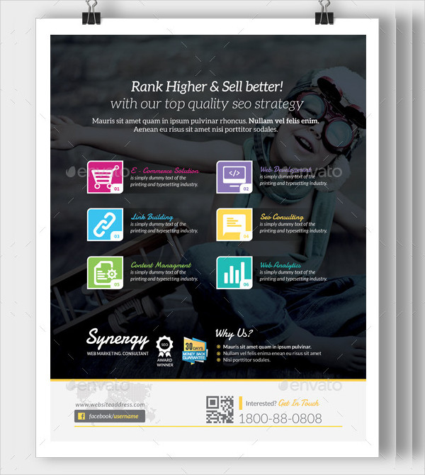 SEO Consultant Flyer Template