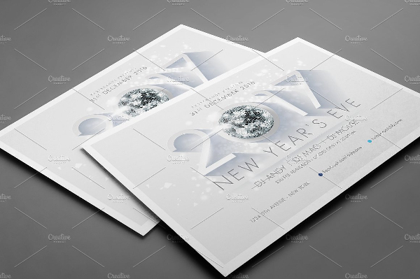 PSD New Year Party Flyer Template