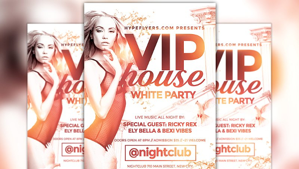 White Party Flyer Templates