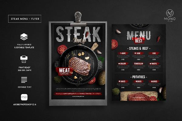 Best BBQ Menu Flyer Template