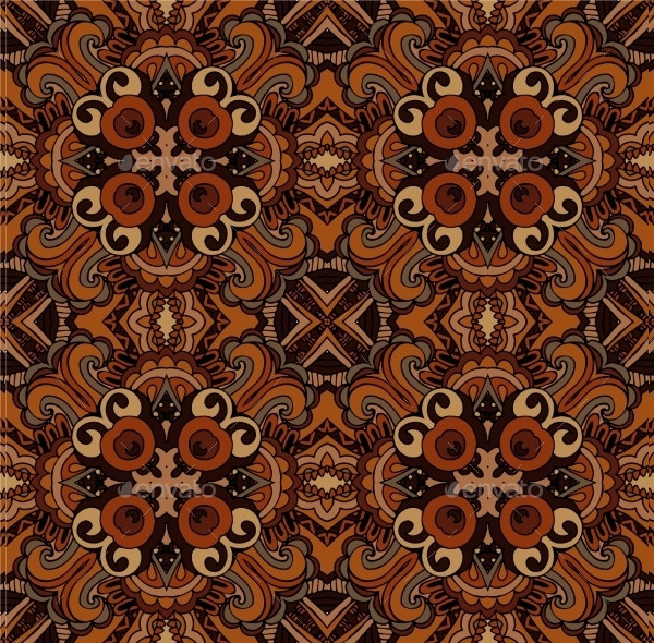 Abstract Ethnic Seamless Tribal Pattern