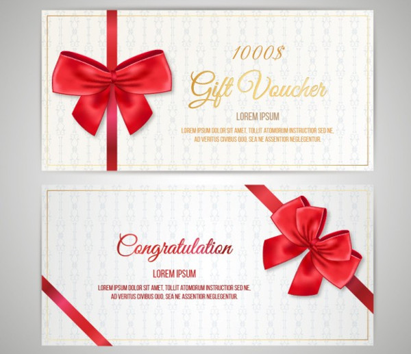 Christmas Coupon Pack Free Vector