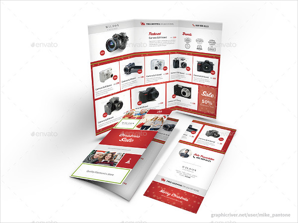 Clean Christmas Store Trifold Brochure