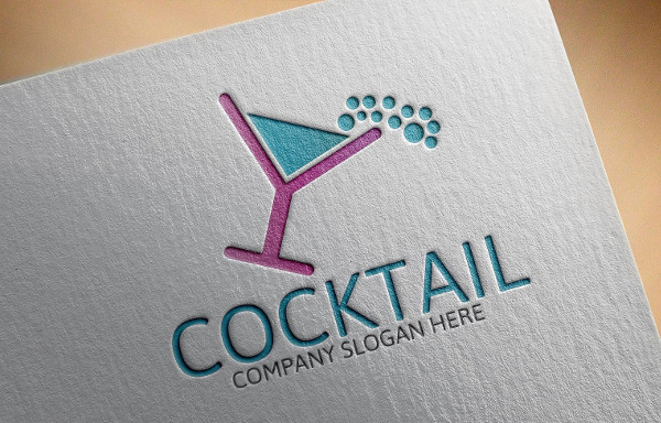 Cocktail Lounge Logo Template