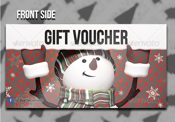 Colorful Christmas Gift Voucher