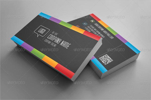 Dark Rainbow Business Card Template