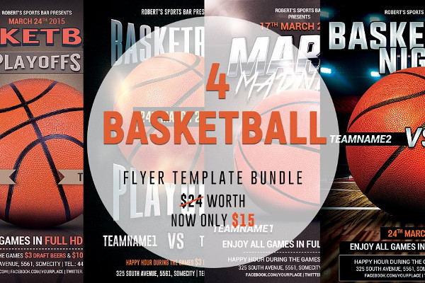 Editable Basketball Flyers Bundle