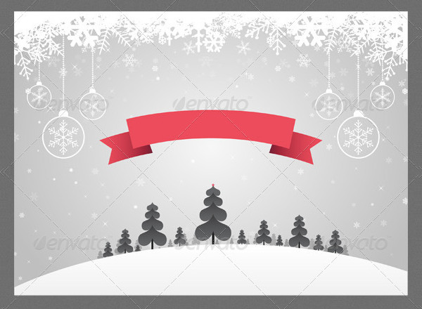 Fully Editable Christmas Background