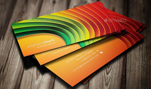 Clean Design Rainbow Business Card