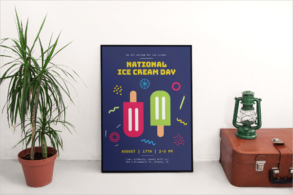 Ice Cream Day Poster Template